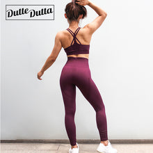 Load image into Gallery viewer, Women's Sports Suit Female Sportswear For Woman Gym Fitness Clothing Women Sport Wear Clothes Sporty 2 Piece Set Leggings