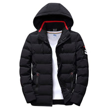 Load image into Gallery viewer, New Fashion Men Winter Jacket Coat Solid Hooded Warm Mens Winter Coat Casual Slim Fit Student Male Overcoat