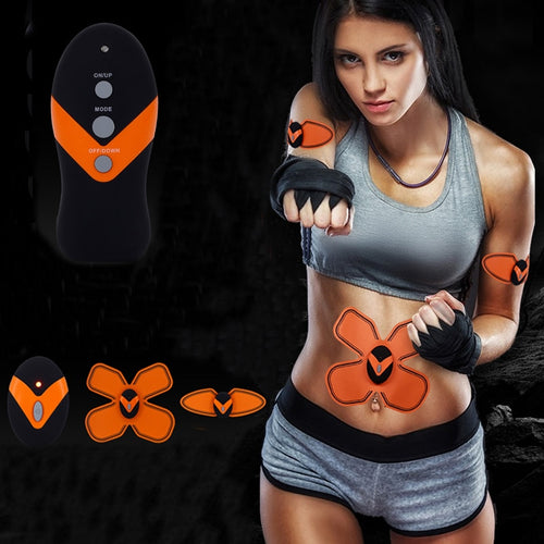 Electric Multi-Function EMS Abdominal Arm Waist Muscles Intensive Training Exerciser Weight Loss Slimming Massager Device