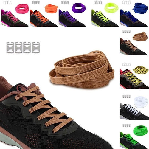 1Pair Fashion Color Lace Run Equipped with Running Shoes