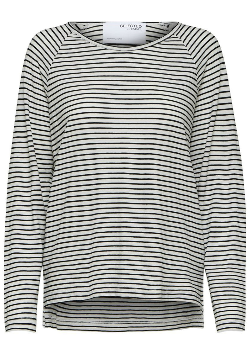 Selected Femme Organic Cotton Striped T- Shirt