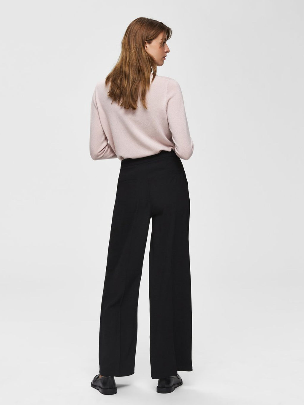 Selected Femme Tinni Wide Leg Trousers - Black