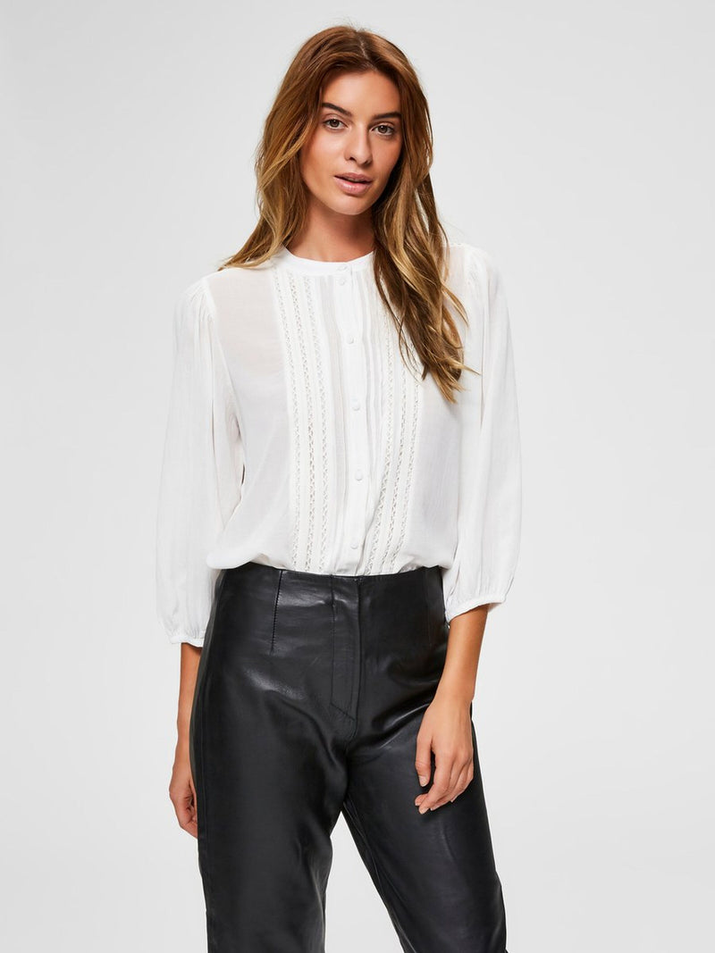 Selected Femme Valentina Blouse White