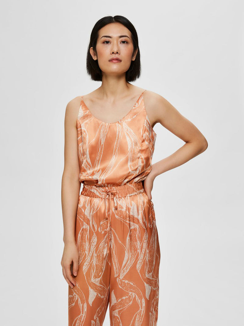 Selected Femme Franka Top - Caramel