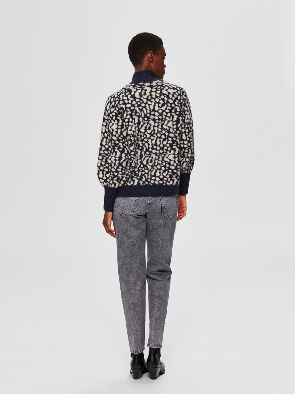 Selected Femme Boxy Animal Print Jumper