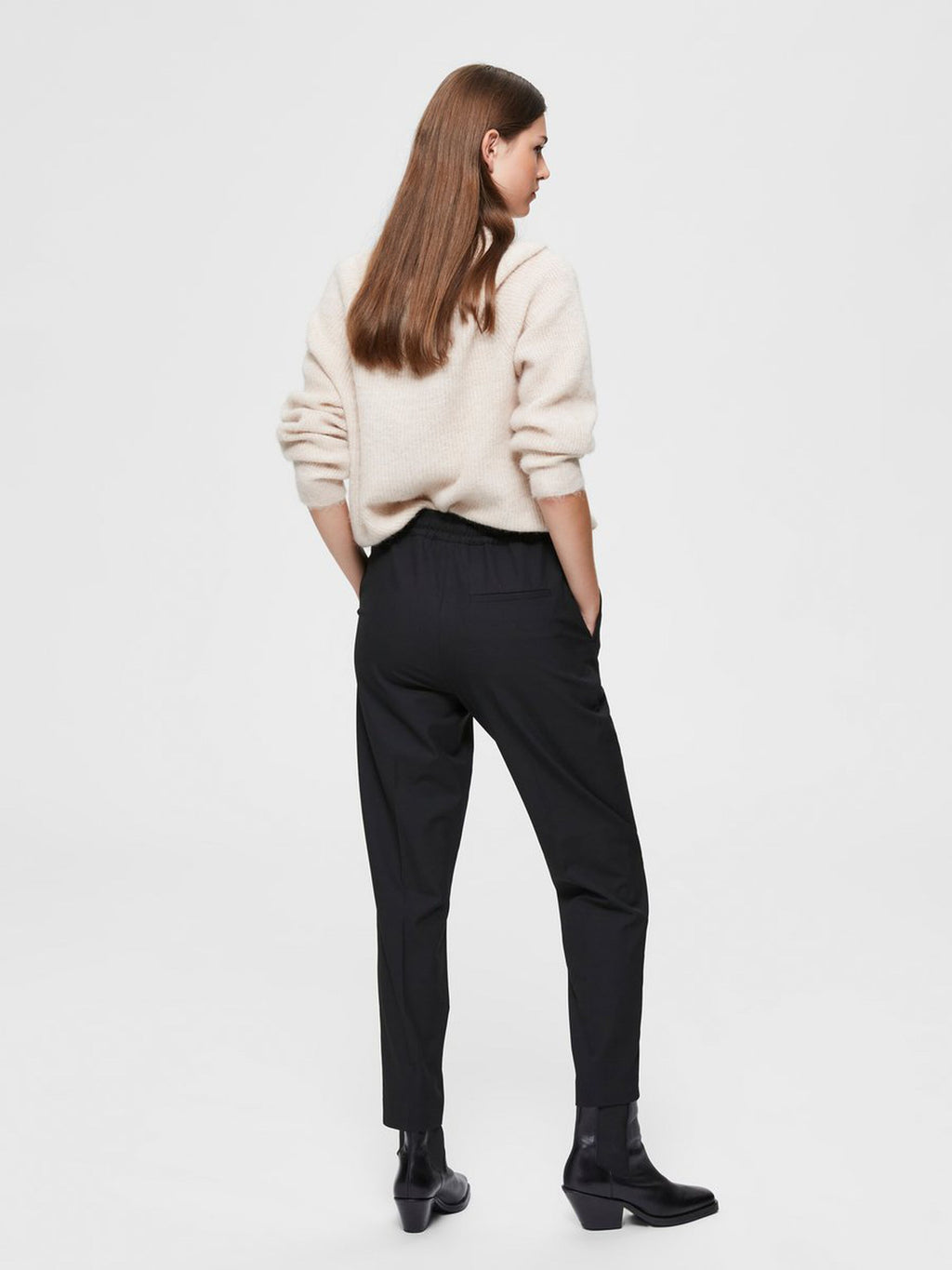 Selected Femme Julie Trousers - Black