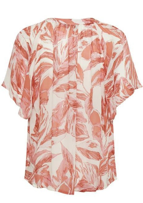 Part Two Ibe Print Blouse - Ginger Palm Print