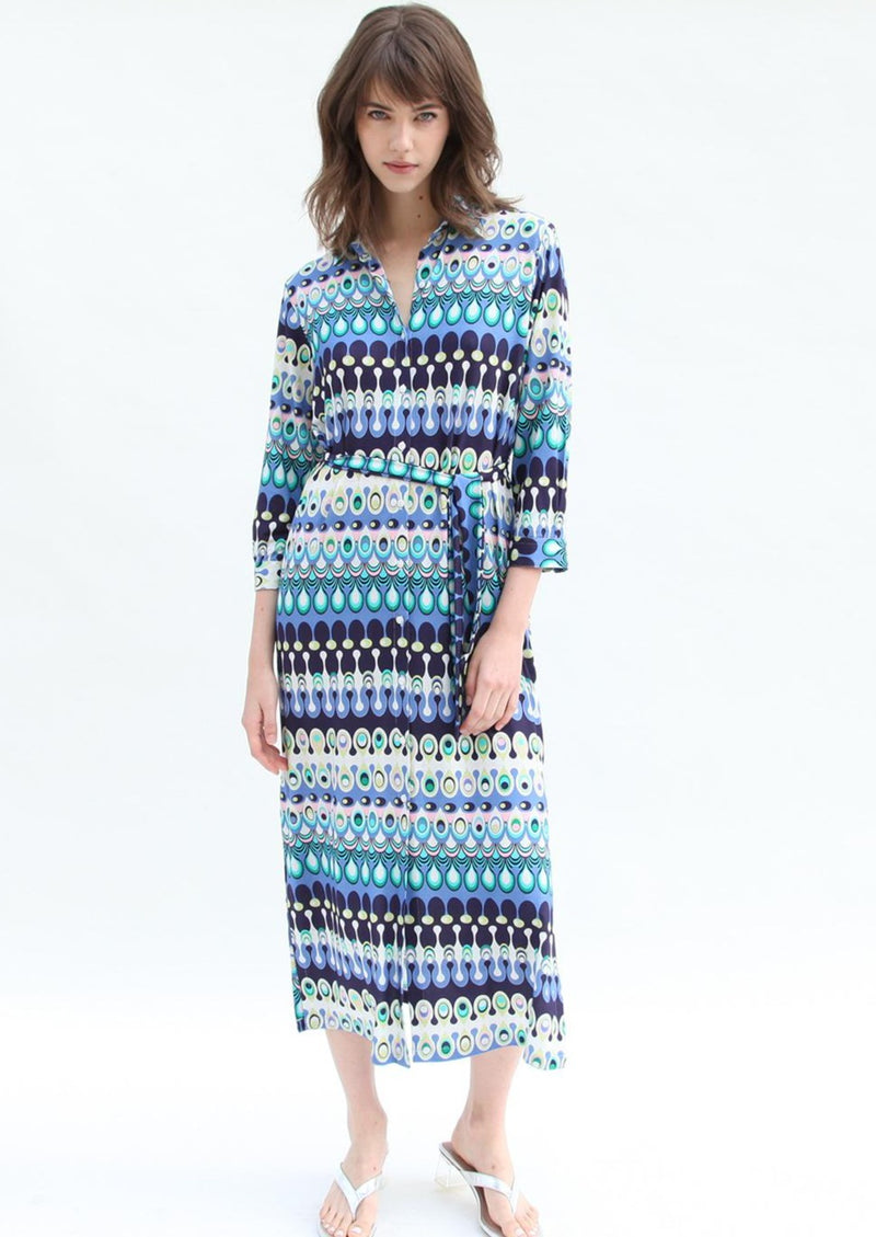 Vilagallo Dafne Dress - Anacapri Blue