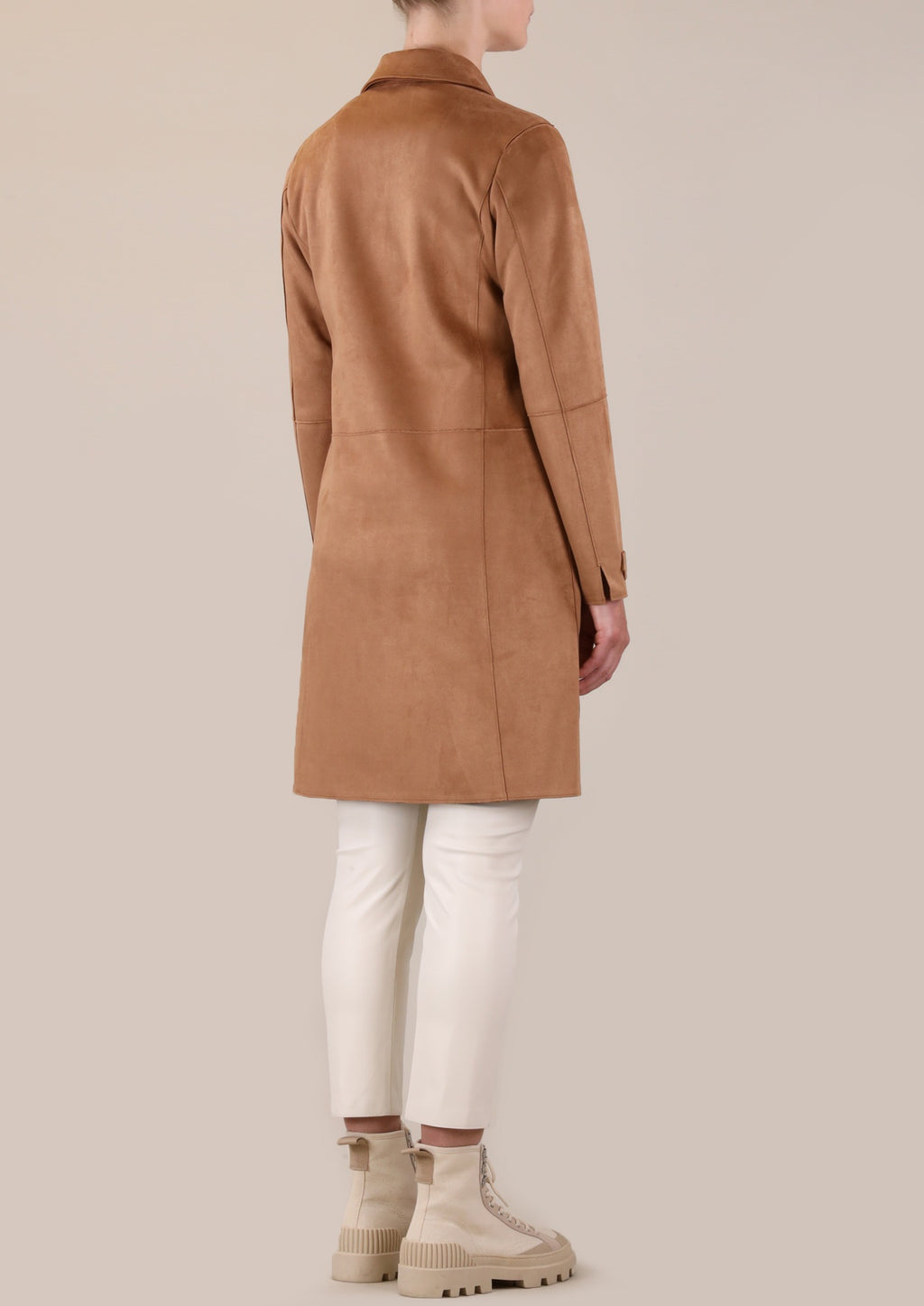 Rino & Pelle Babice Faux Suede Coat - Toasted Nut