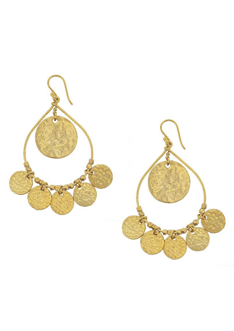 Ashiana Greek Island Gold Earrings