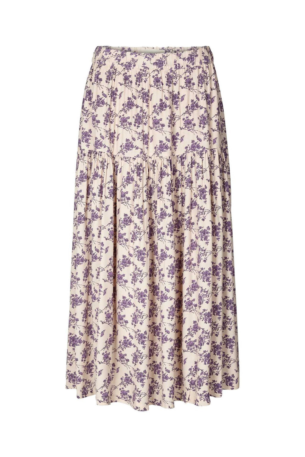Lollys Laundry Cokko Cream Floral Print Skirt