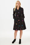 Sugarhill Zadie Star Planet Black Shirt Dress