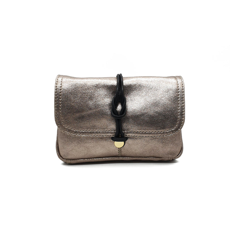 Nooki Delfine Fold Over Leather Bag - Gold