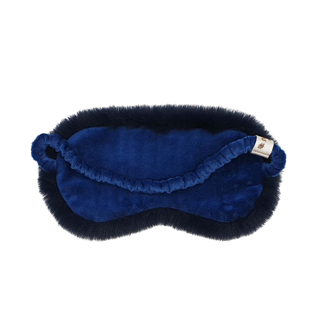 Nooki Faux Fur Eye Mask - Navy