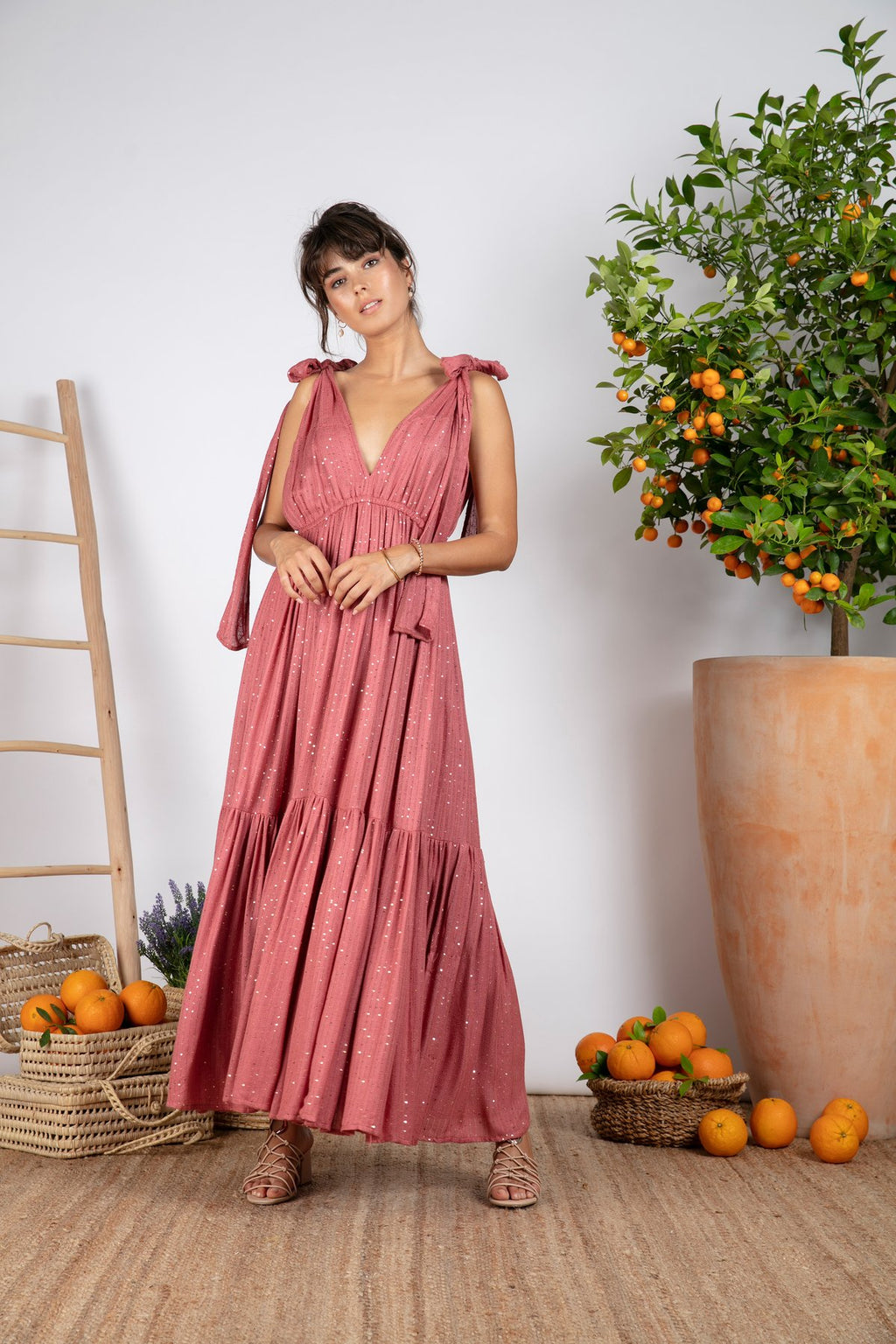 Sundress Fanya Rose Maxi Dress