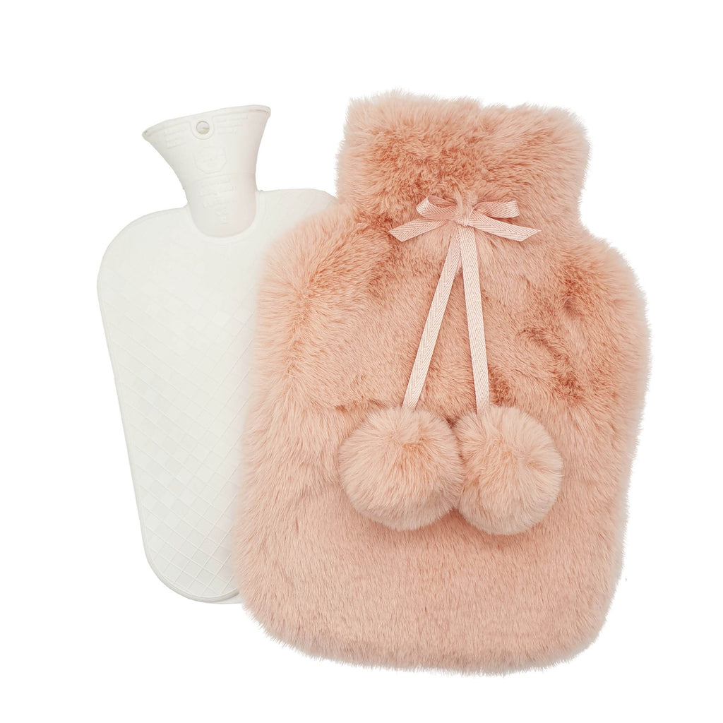 Nooki Faux Fur Hot Water Bottle - Pink