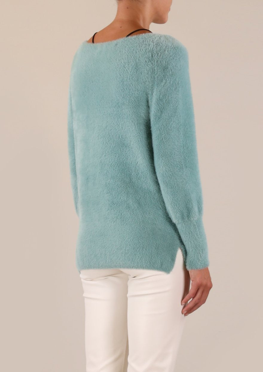 Rino & Pelle Maddie Knitted V-Neck Sweater - Wasabi