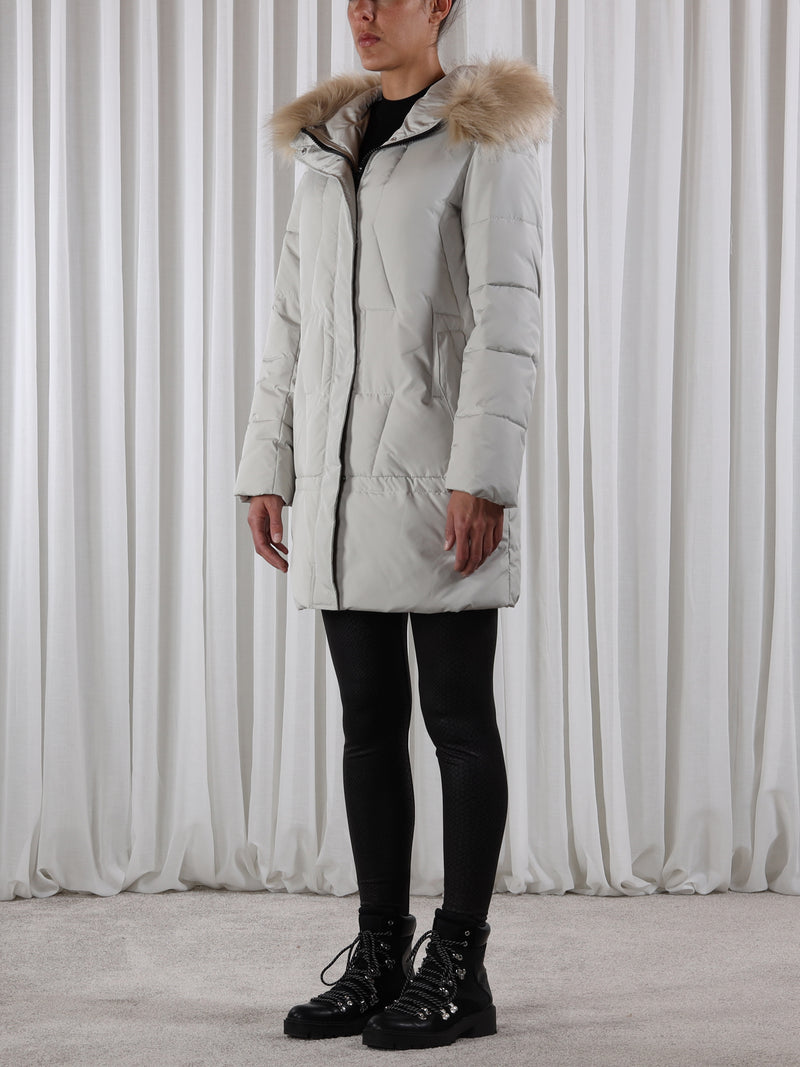 Rino and Pelle Neo Padded Coat - Silver Grey