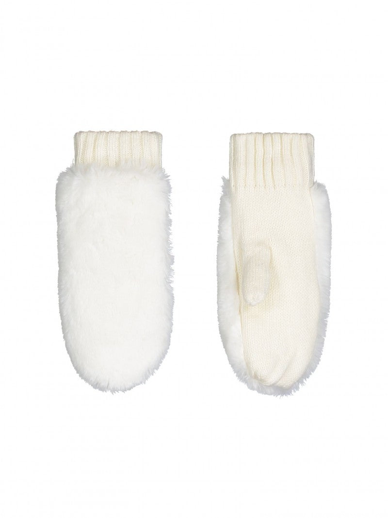 Rino and Pelle Faux Fur Mittens - White