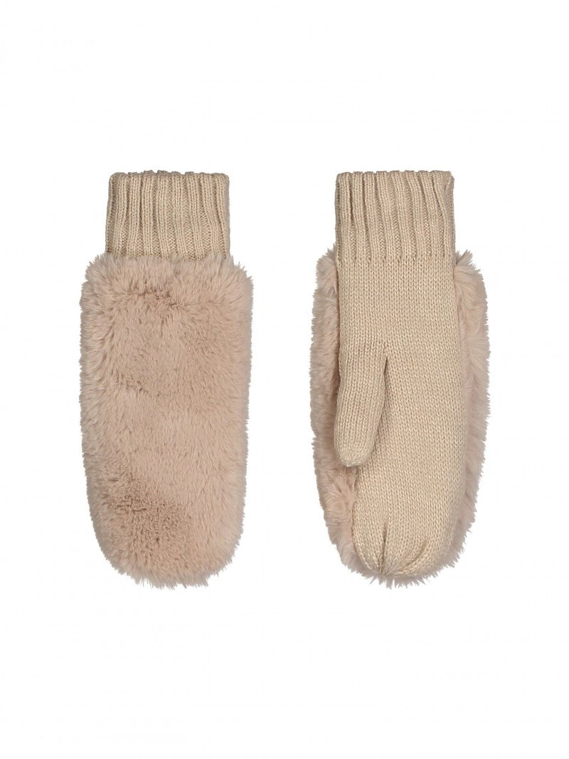 Rino and Pelle Faux Fur Mittens - Beige