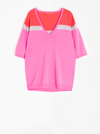 Vilagallo V-Neck Bright Pink Knit
