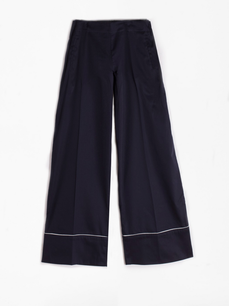 Vilagallo Sandra Navy Wide Trousers