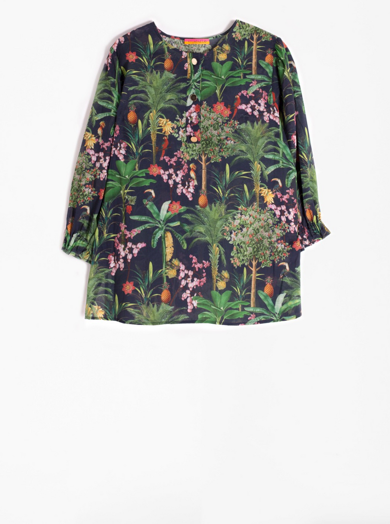 Vilagallo Karen Jungle Print Shirt