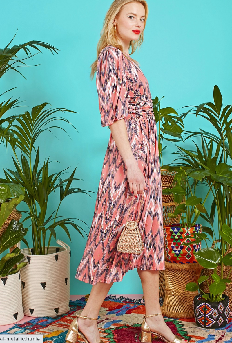 Onjenu Esme Dress Venus Coral Print