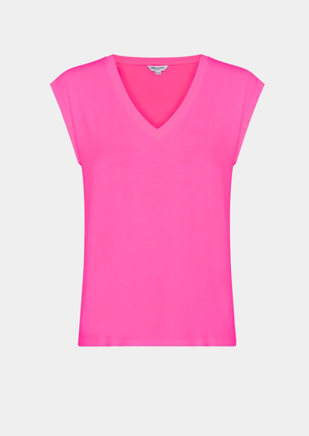 Great Plains Core Soft Jersey V Neck Tee - Pop Pink