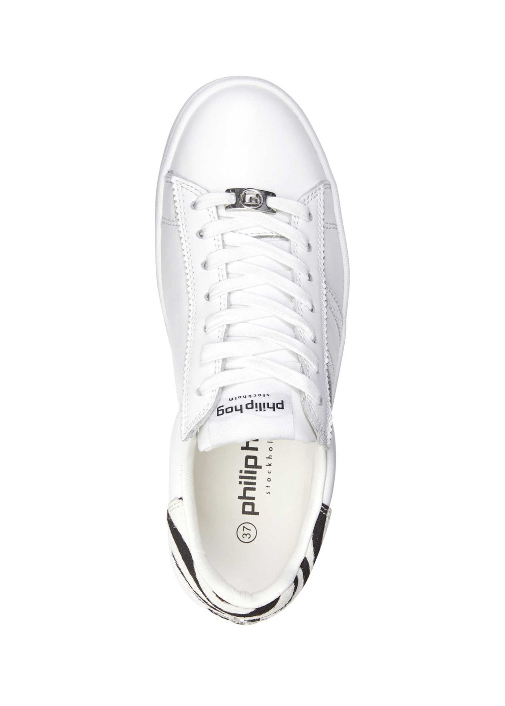 Philip Hog Serena Zebra Trainer - White