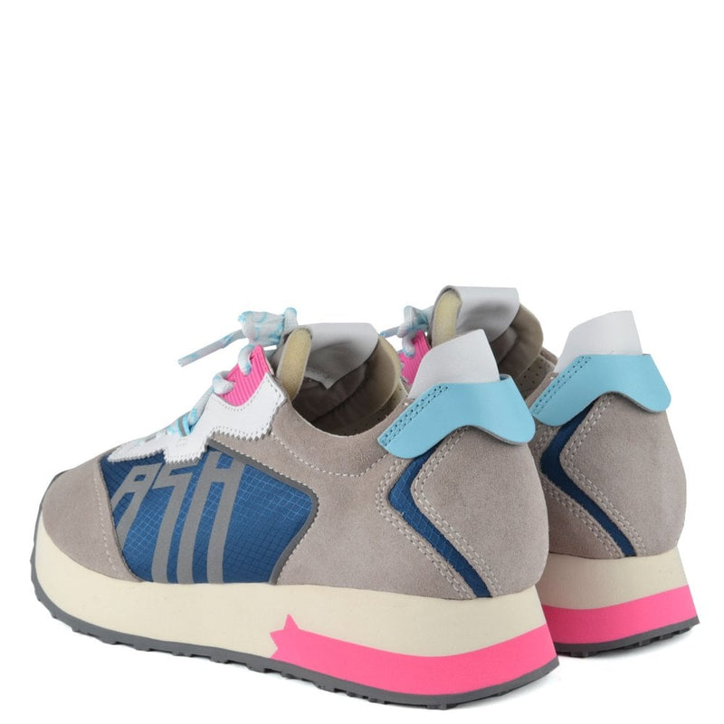 Ash Tiger Trainers - Grey Suede & Blue Nylon