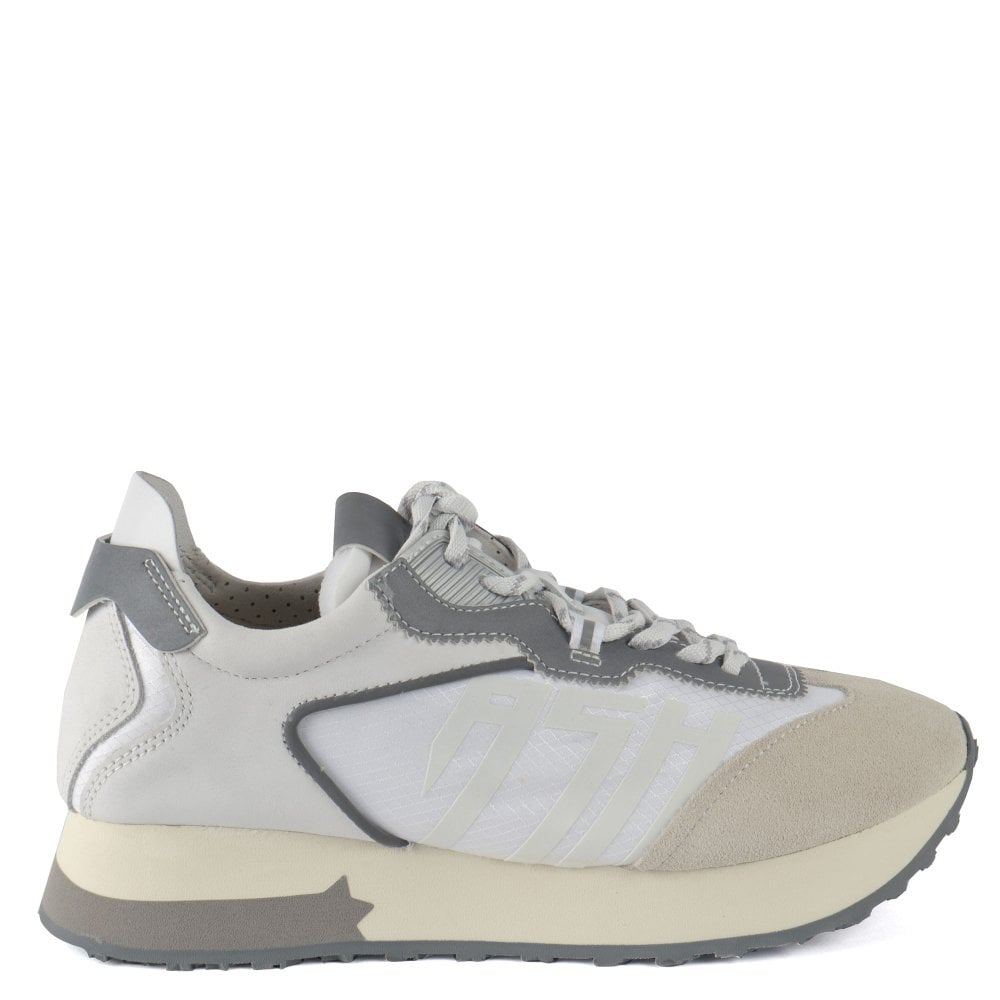Ash Tiger Trainers - White Leather & Suede