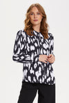 Saint Tropez Animal Print Blouse - Dark Navy