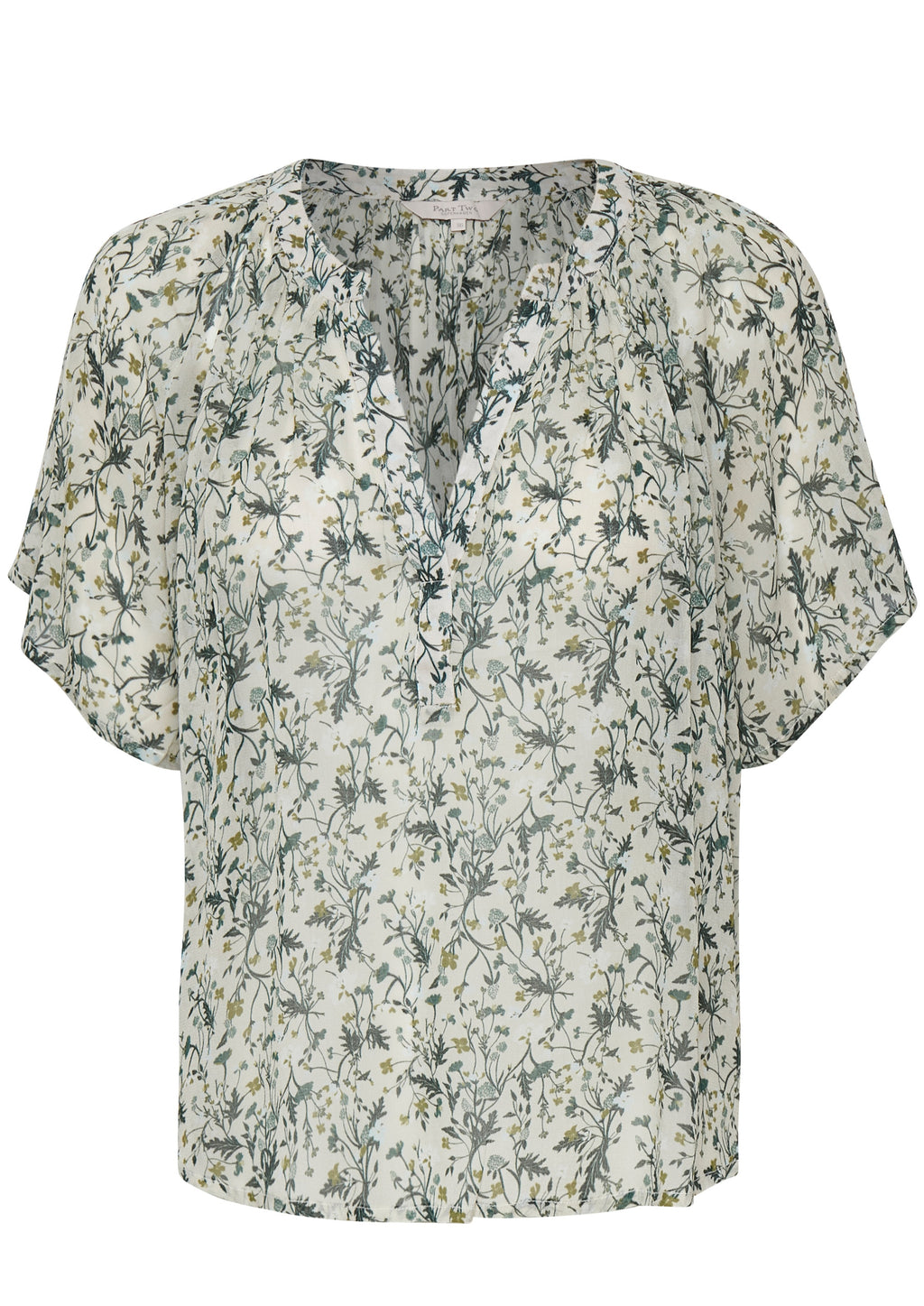 Part Two Ibe Print Blouse - Green Botanical
