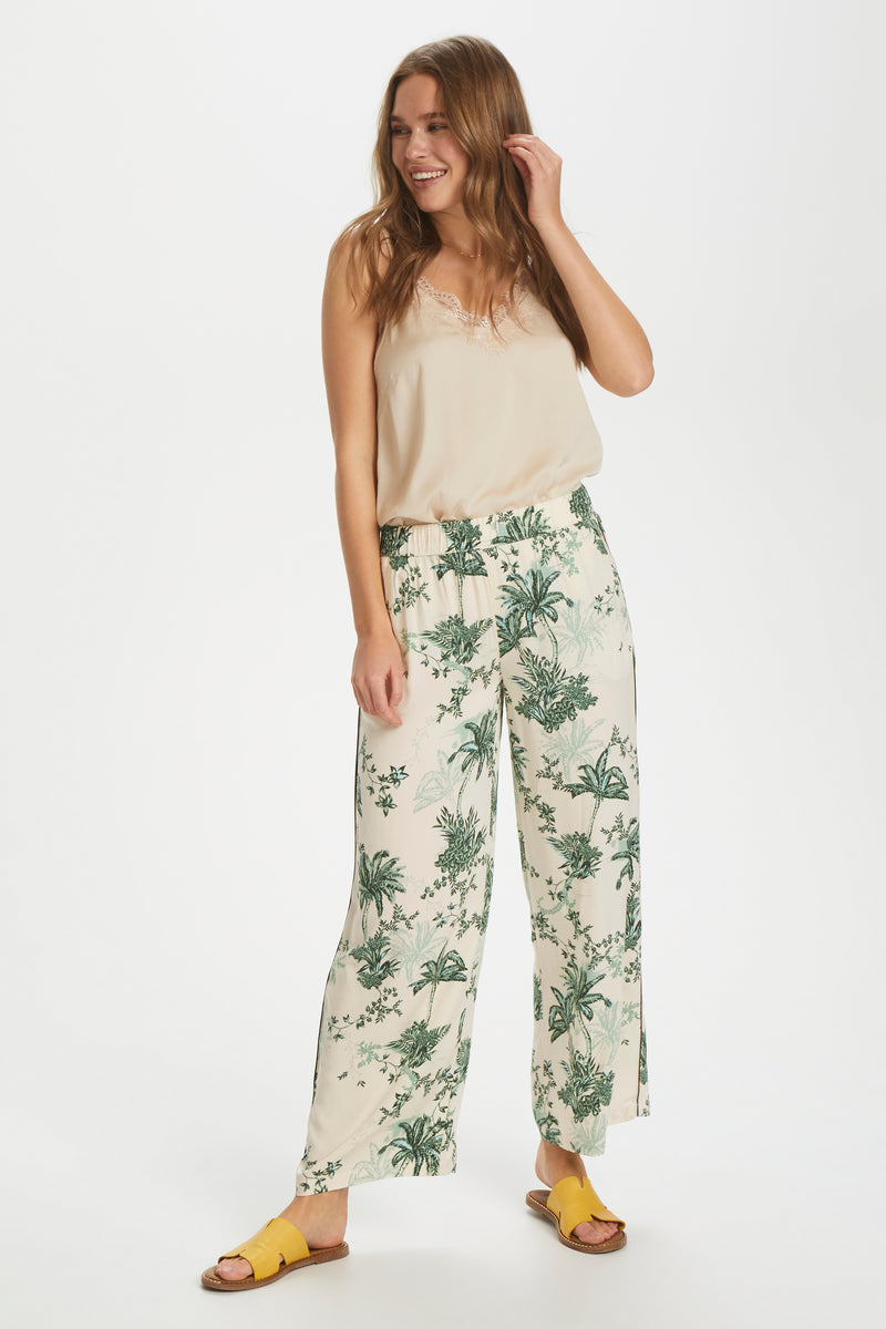 Saint Tropez Casual Palm Print Trousers