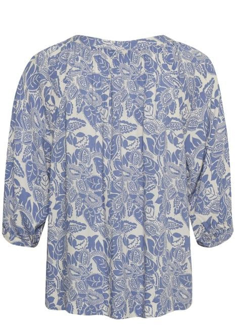 Part Two Inneke Blue Floral Print Blouse