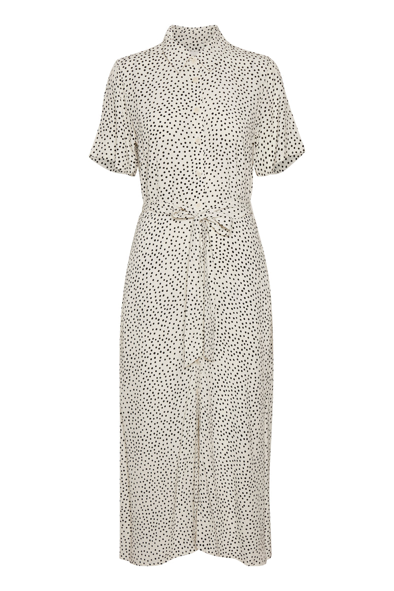 Part Two Carma Shirt Dress - Dot Print Eggnog