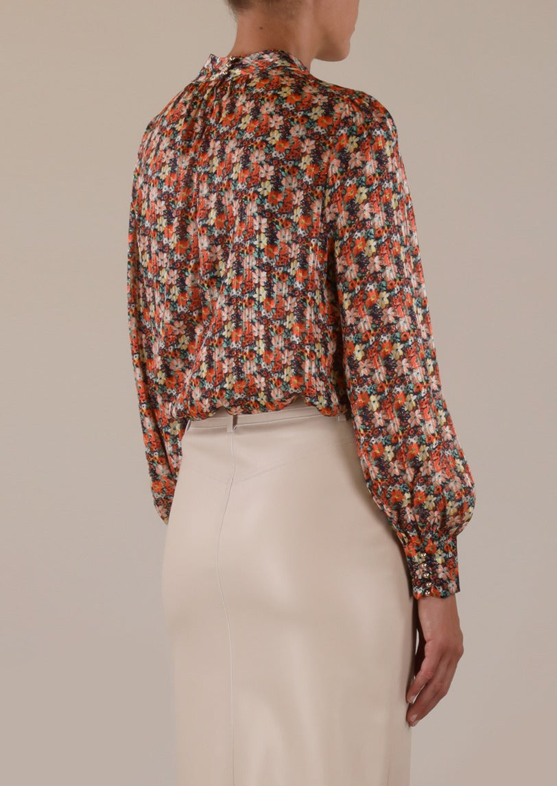 Rino & Pelle Jess Orange Flower Print Blouse