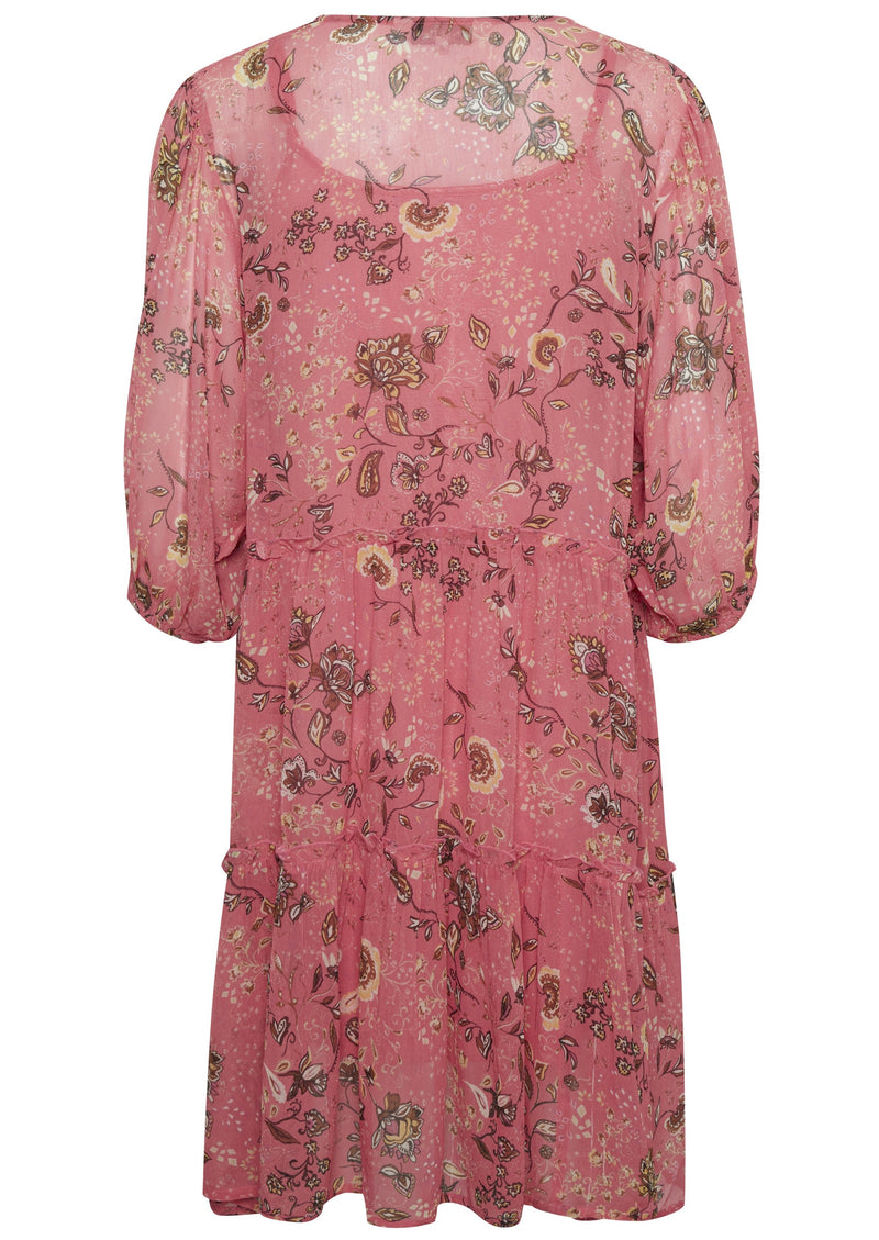 Part Two Hawra Paisley Dessert Rose Print Dress