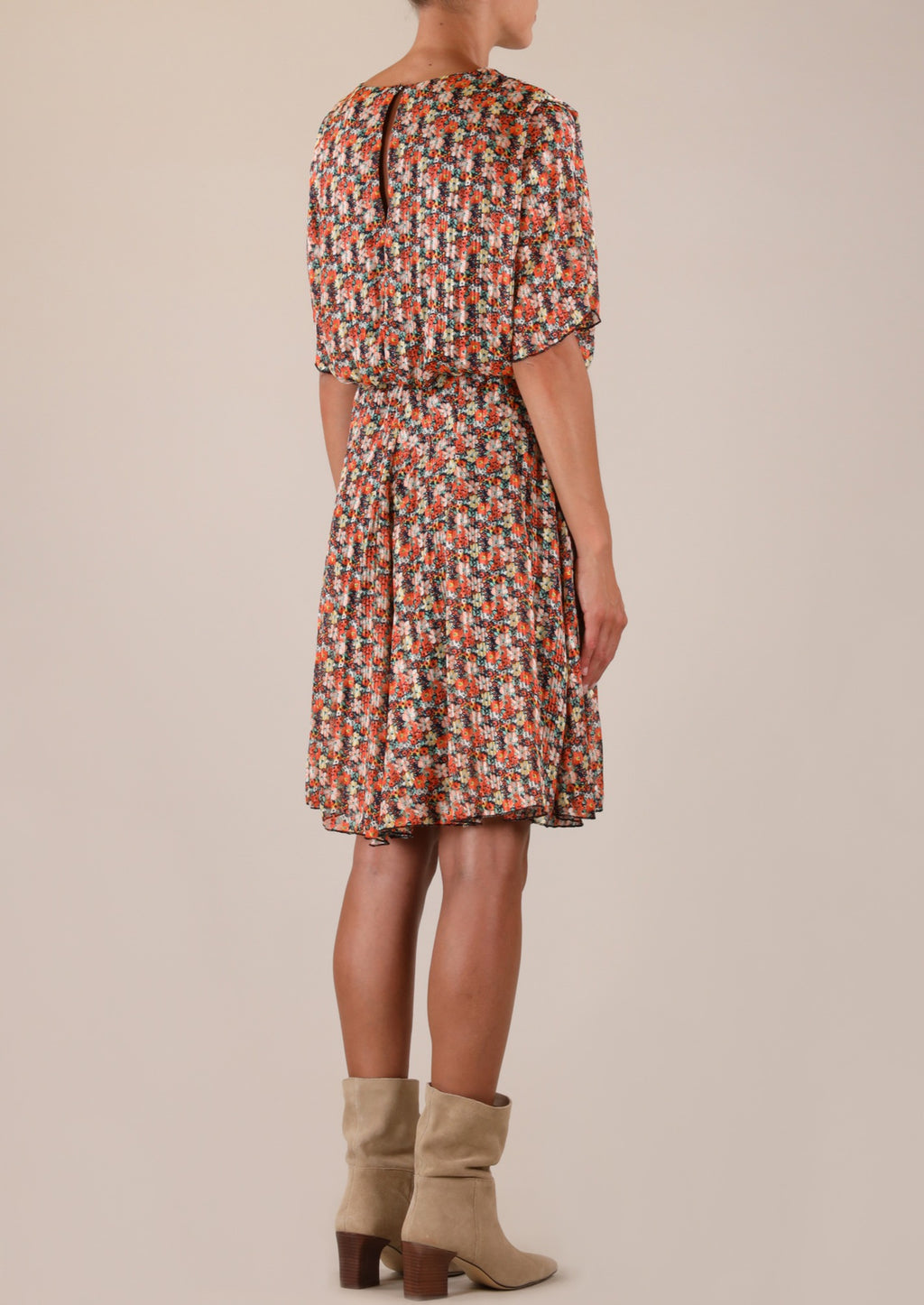 Rino & Pelle Bianna Orange flower Print Dress