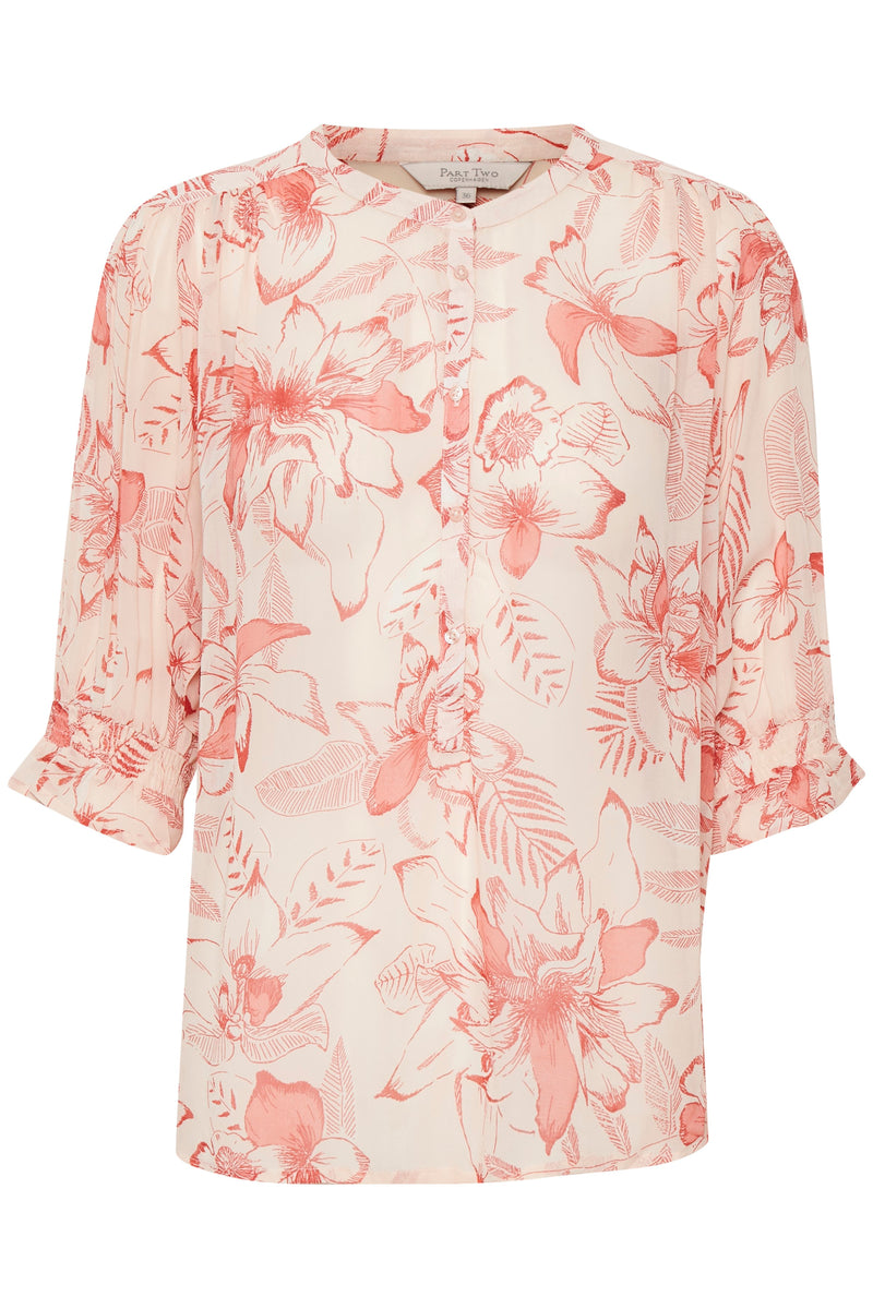 Part Two Caras Floral Blouse - Pink