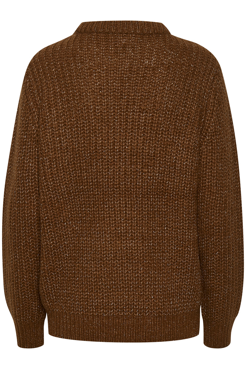 Saint Tropez Drooke Knitted Jumper - Brown