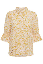 Part Two Caias Shirt - Gold Dot Cream