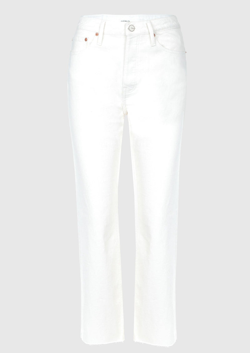 Reiko Milo High Waist Straight Leg Jeans - Off White