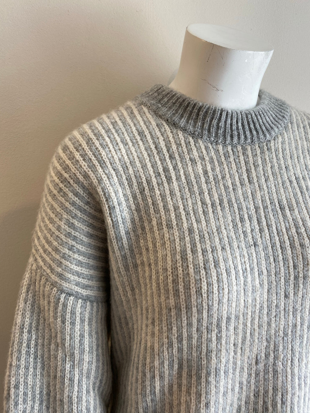 In Wear Sola Striped Jumper - Grey