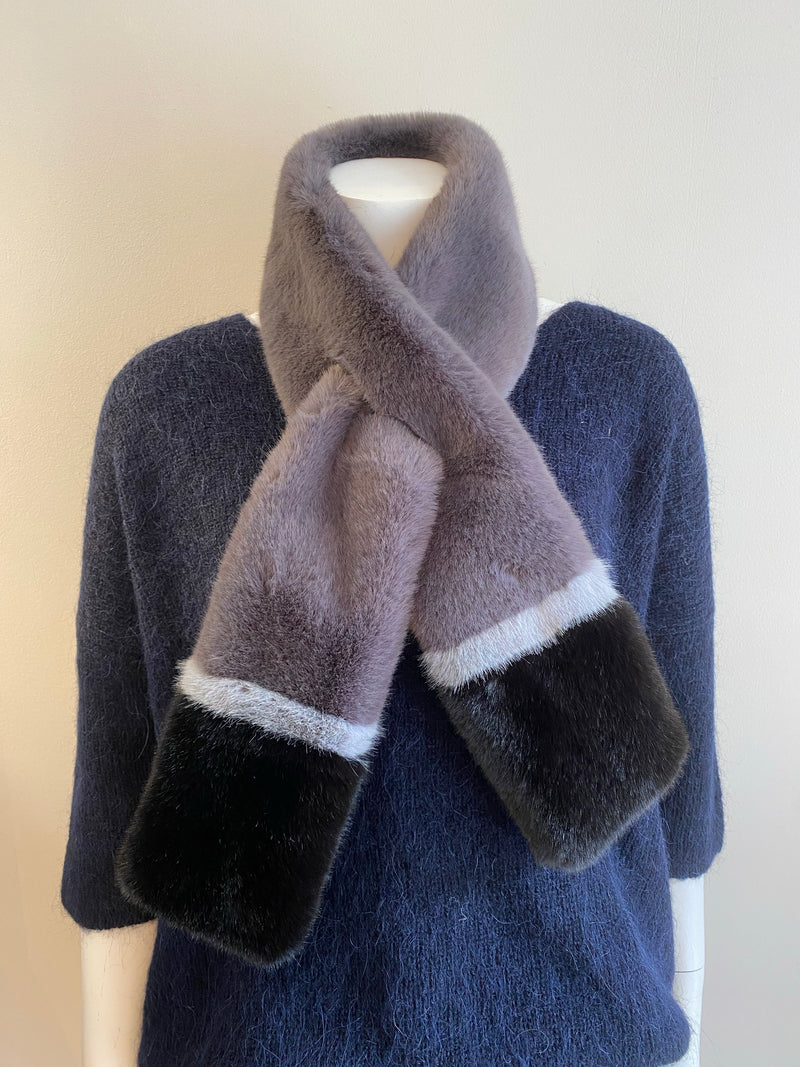 Libby Loves Winnie Two Tone Scarf - Grey