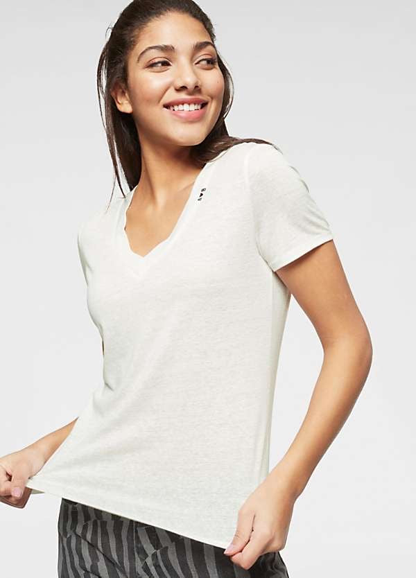 Maison Scotch V Neck Tee - White