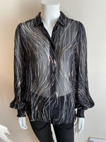 In Wear Petrinal Pattern Shirt - Black