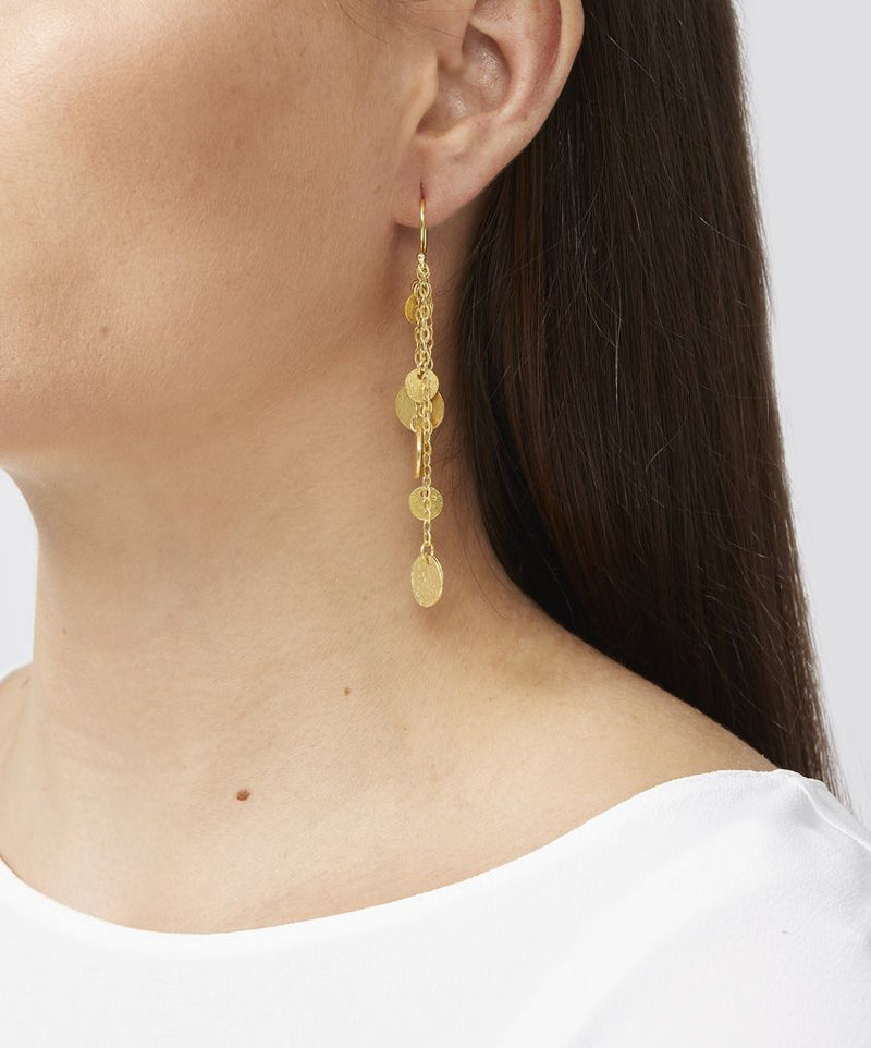 Ashiana Alena Coin Earrings - Gold
