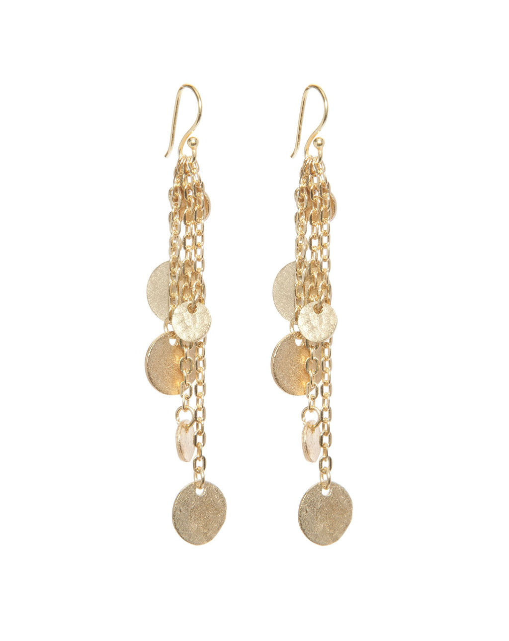 Ashiana London Alena Gold Coin Earrings